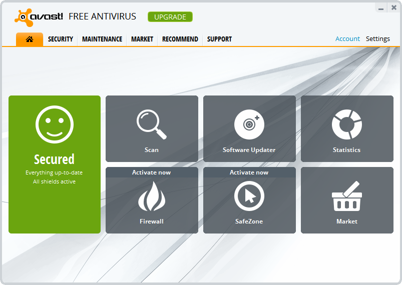 avast! Free Antivirus 8.0 screenshot