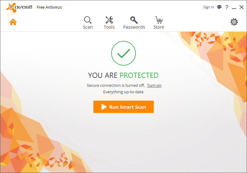 Avast Free Antivirus Screen shot