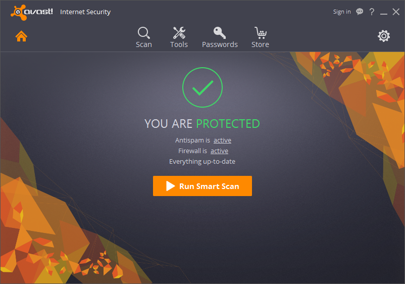 Avast Internet Security Screen shot